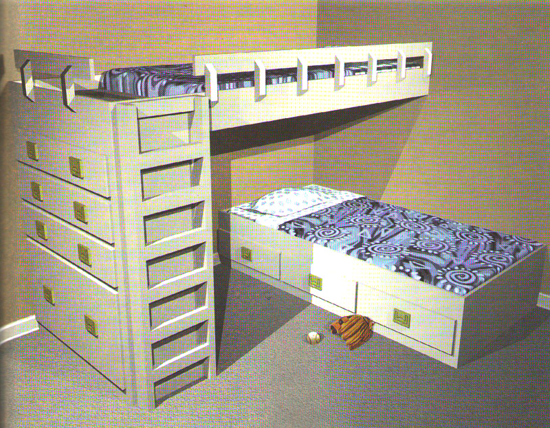 Двухярусная кровать своими руками