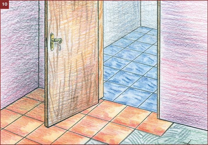 Укладка плитки на полу ванной