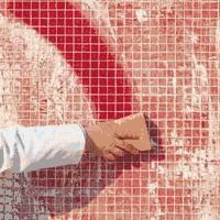 Удаление затирки с мозаики