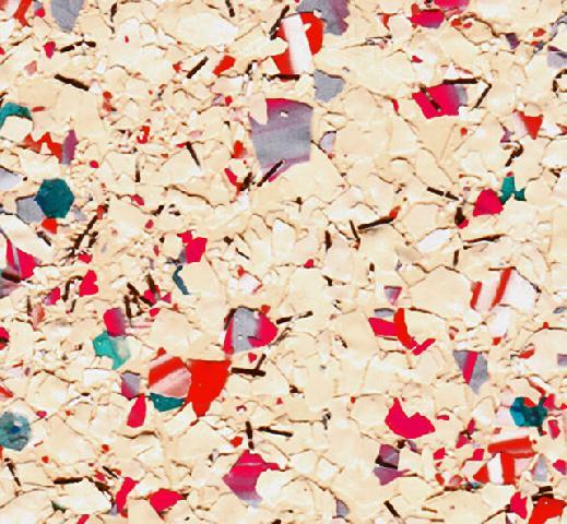 Флоковая смесь, доминируют яркие цвета
