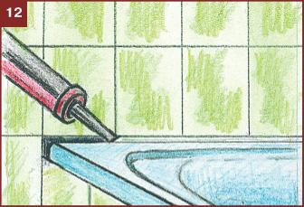 Оформление стыка ванны и стены