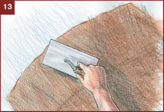 Гладкий шпатель для предварительного выравнивания поверхности