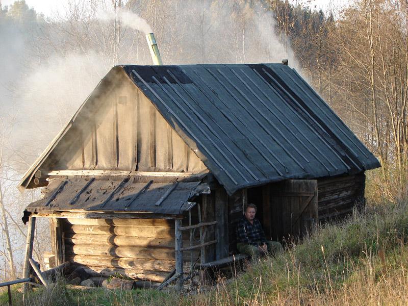 Топка русской бани по черному иной раз напоминает пожар