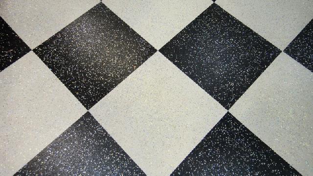 Флоковое покрытие на полу с блестками