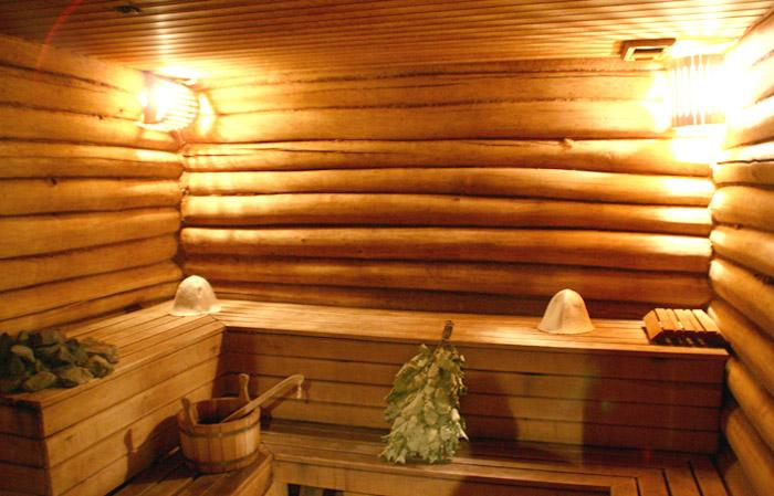 Современная русская баня выглядит комфортно и чисто