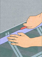 Прирезание полотнища (по линейке)