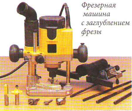 Фрезерная машина с заглублением фрезы для изготовления мебели