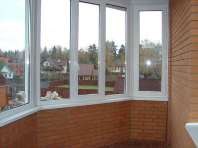 Остекление лоджии ПВХ окнами