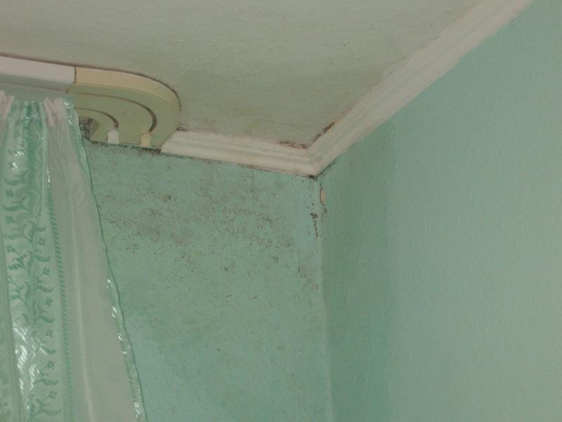 Плохой стык стены и потолка в панельном доме