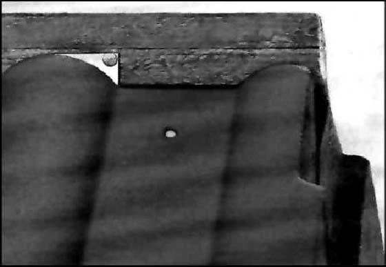 Торец конькового бруса