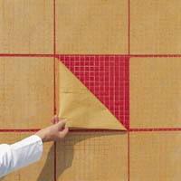 Удаление бумаги с мозаики