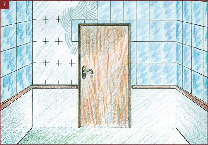 Укладка плитки вокруг дверей