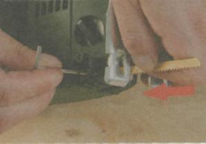 Резка дерева электролобзиком - Винк крепления ножовочного полотна