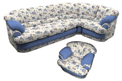 Добротный угловой диван