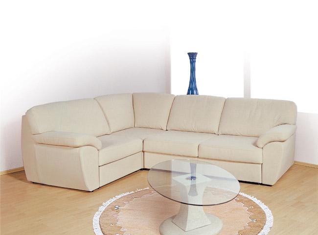 Белый угловой диван для гостиной
