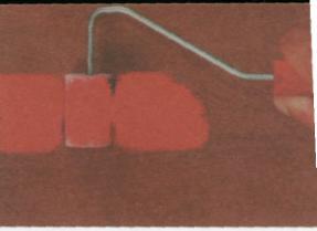 Рис.7. Покраска поверхности валиком