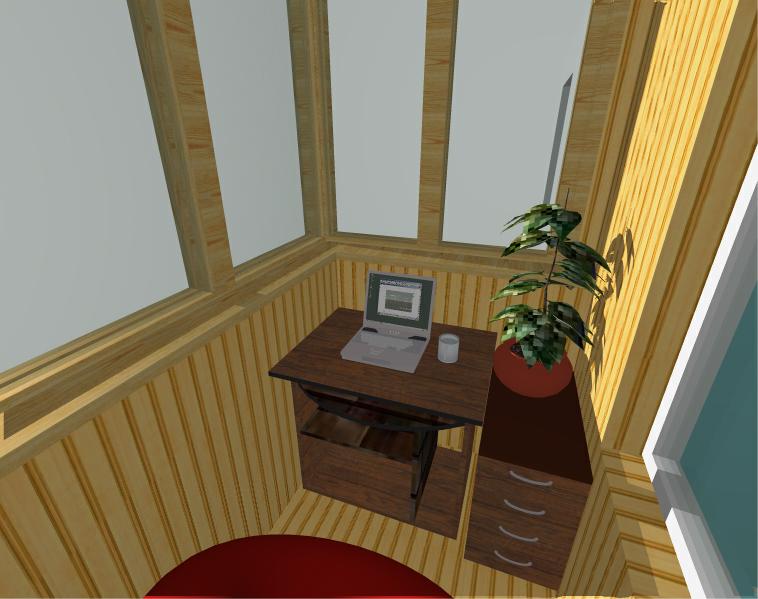 Остекленный балконов снутри