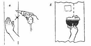Рис. 3. Замена крепежа листов гипсокартона