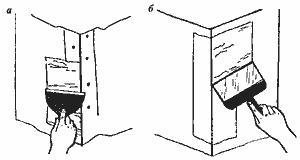 Рис. 5. Заделка трещин на угловой защитной накладке
