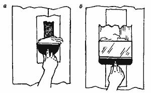 Рис. 7. Заделка трещин на ленте, наложенной на стыки