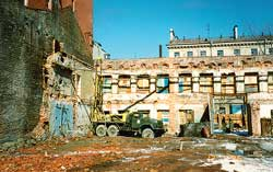 Выполнение буронабивных свай с использованием установки УРБ 2А2 на площадке строительства жилого дома (1993г.)