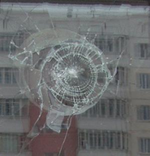 Окно триплекс после удара