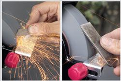Наиболее эффективный способ заточки железко для рубанка - с помощью электроточила